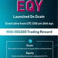 EQY Listing Event, 200,000 EQY Winning Pool to Win