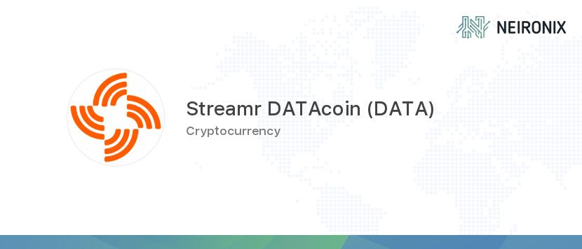 Streamr datacoin value
